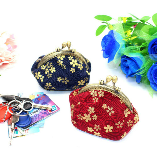 Collectable Handmade Japanese Style Fans Clasp Coin Purse Bag Change Wallets G 7