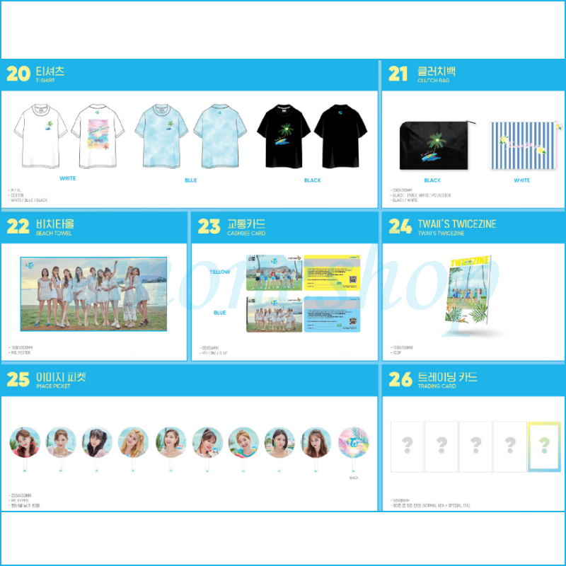 KPOP TWICE [ Twaii's Shop ] in SEOUL POP UP STORE OFFICIAL MD + Tracking No. 5