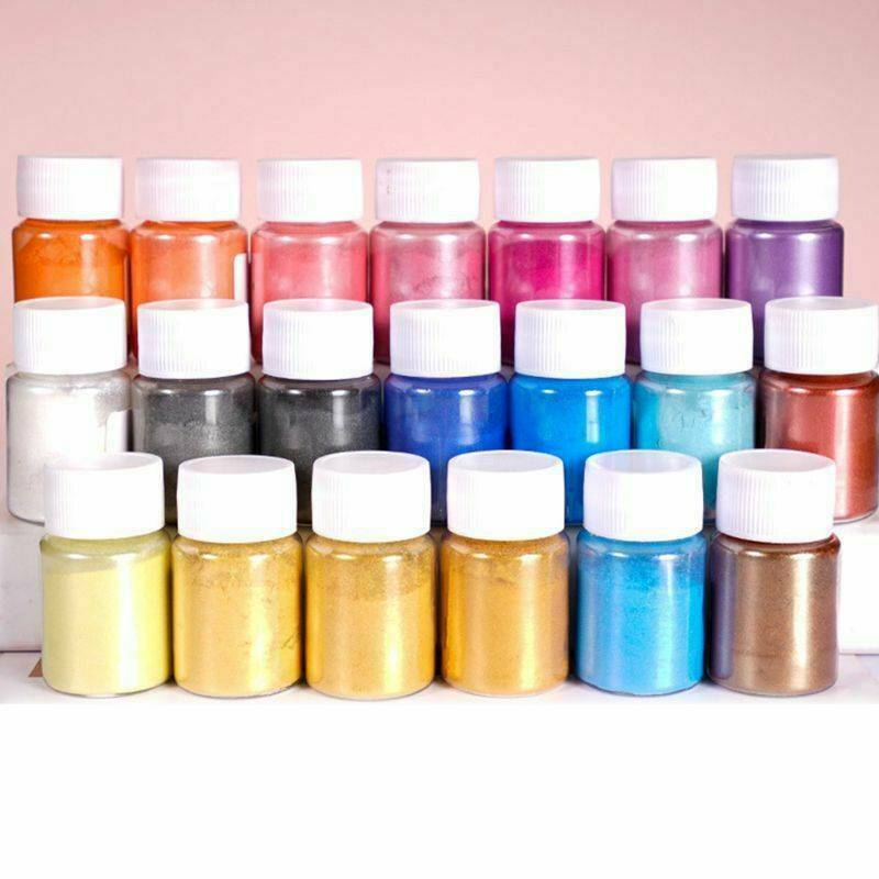 20 Colors Luminous Powder Resin Pigment Dye UV Resin Epoxy DIY Making Jewelry 3