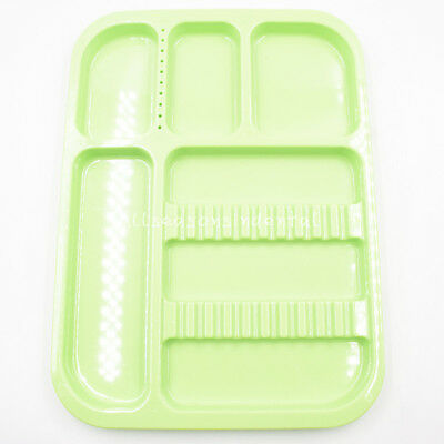 Dental Sterilized Autoclavable 135° Divided Tray Plastic Separate 245x340x2mm 4
