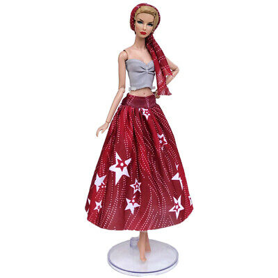 "Fashion Doll Clothes For 11.5"" Doll Dress Outfits Gown Top Floral Midi Skirt 1/6 10"