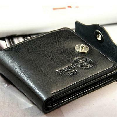 Mens PU Leather Wallet Large Coin Pocket Pouch Bifold Card Holder Purse Bag CS 3