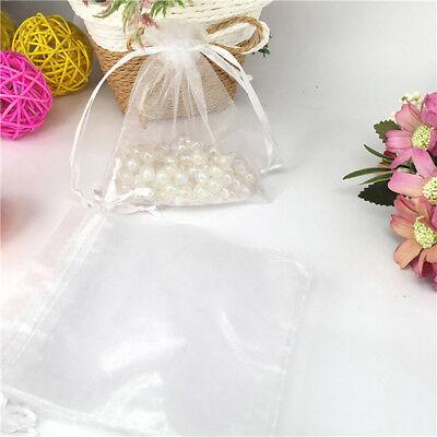 20/50/100X Large Organza Wedding Favour Pouches Gift Bag Net Bags Drawstring AS 7