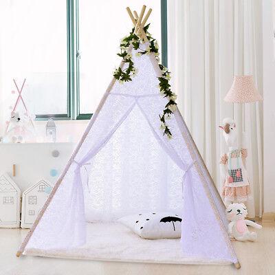 New Kids Teepee wigwam childrens play tent childs garden indoor toy 5' Canvas UK 6