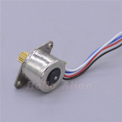 Micro Mini 15MM Stepper Motor 2-Phase 4-Wire  Stepping Motor Copper metal Gear 4