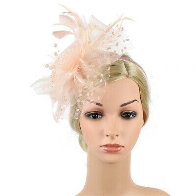 Ladies' Day Fascinator Hat Cocktail Tea Party Headband Women Wedding Hair Clip 9