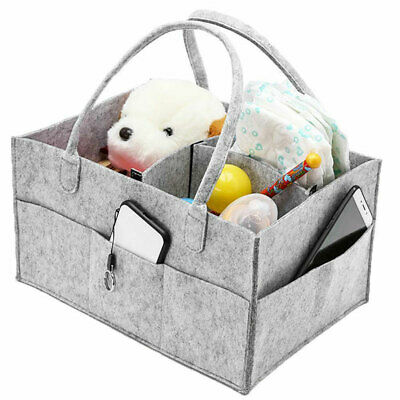 Baby Diaper Organizer Caddy Changing Nappy Kids Storage Carrier Bag Large Pocket 8
