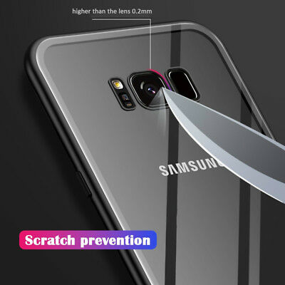 Magnetic Tempered Glass Case Cover Samsung Galaxy S8 S9 S10 Plus S10E Note 8 9 6
