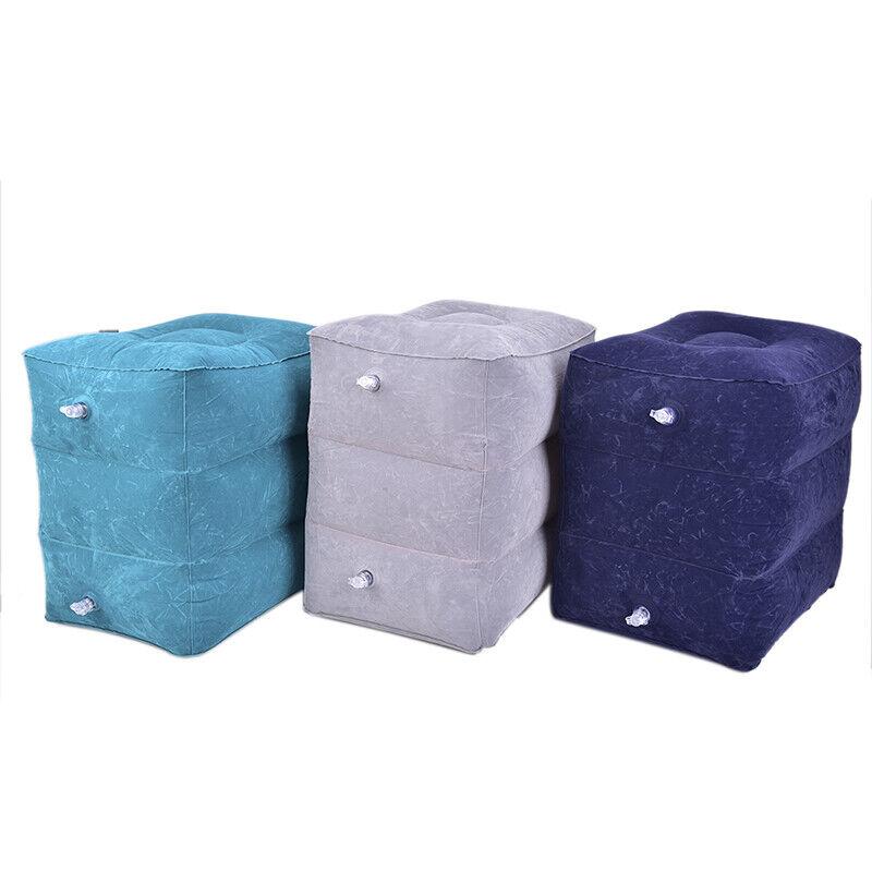Inflatable Travel Footrest Leg Foot Rest Air Plane Pillow Pad Kids Bed PortMAEK 6
