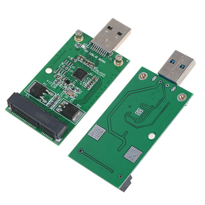 1Pc Mini USB 3.0 to PCIE mSATA External SSD PCBA Conveter Adapter  MER 4
