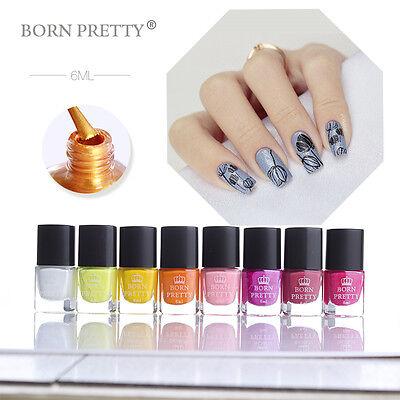 BORN PRETTY 6ml Nail Stamping Polish Purple Nail Art Varnish for Stamp Stencils 4