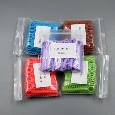 1040 Pcs Dental Orthodontic Elastic Braces Rubber Ligature Ties 37 Colors 1 Pack 5
