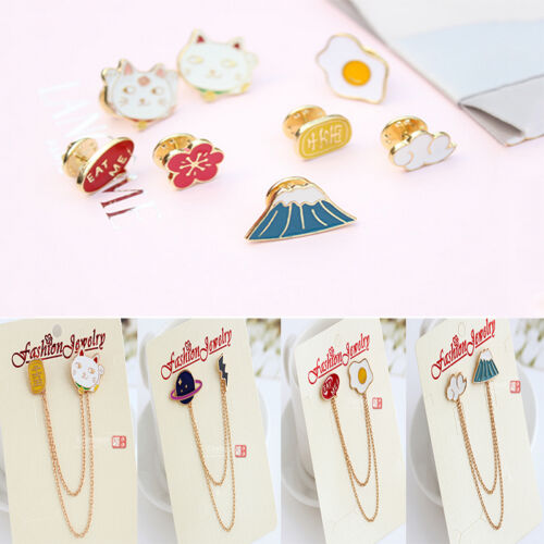 b66a0f6eeb8 Fashion Cute Enamel Collar Pin Badge Corsage Cartoon Metal Brooch Pins  Jewelry 5 5 of 12 ...