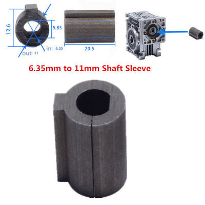 57 Stepper Motor Connected to RV030 Worm Gear Sleeve 6.35mm / 8mm Shaft to 11mm 3