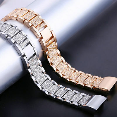 For Fitbit Charge 2 Smart Watch Crystal Stainless Steel Watch Band Wrist Strap E 6