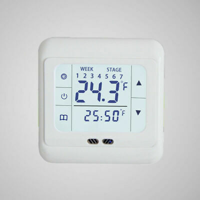 Digital Thermostat Raumthermostat Fußbodenheizung Programmierbar Bodenfühler LCD