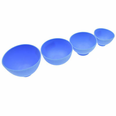 Dental Lab Mixing Bowl Blue Nonstick Flexible Silicone Rubber Impression Cup 5