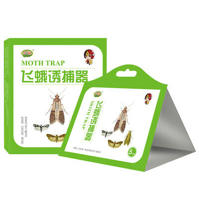 5pcs/pack Pantry Kitchen Food Moth Pheromone Attractant Moth Killer Moth Trap 6