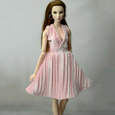 """Pink Pretty Dress For 11.5"""" 1/6 Doll Outfits Fashion Doll Clothes Party Dresses 3"""
