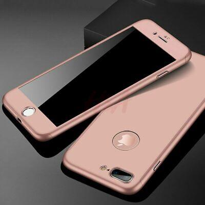 Coque 360 pour iPhone XS Max XR 6s 7 8 Plus 5 5S SE Protection Antichoc + Verre 6