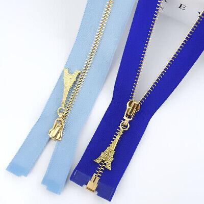 1Pc 20/40/50/60/70CM  Gold Teeth Metal Zips Sewing Zip Garment Accessories 10