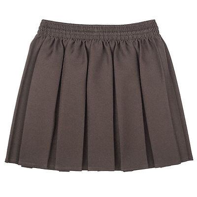 New Girls School  Box Pleated Elasticated Waist Skirt Kids School Uniform 3