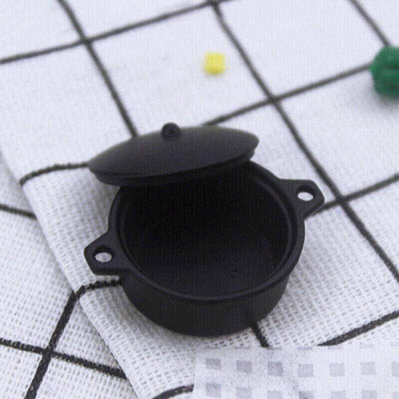 1:12 Dollhouse Miniature Mini Black Pot Model Kitchen Accessories T pzB0US 7