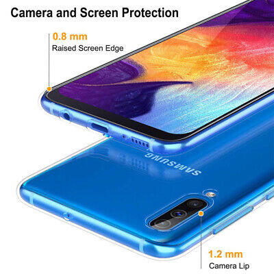 For Samsung Galaxy A50 A40 Ultra-Thin Clear Soft Silicone Shockproof Case Cover 5