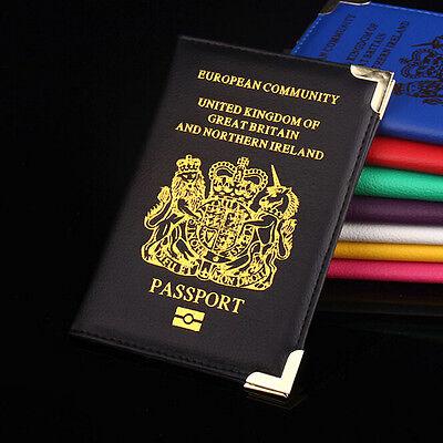 Women Men Travel Passport Holder PU Leather Cover ID Credit Card Wallet 3