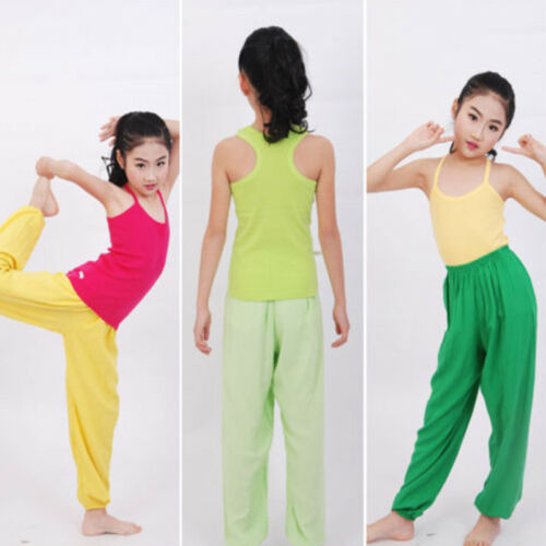 Kids Girls Boys Harem Loose Trousers Baggy Bloomer Pants Children Dance Bottoms 5