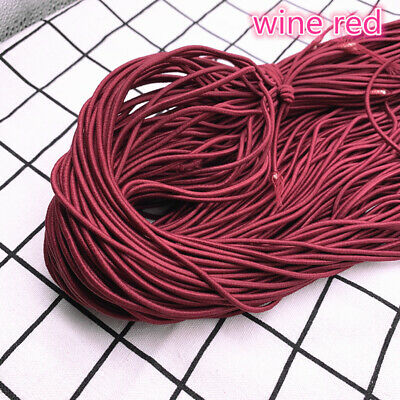 5yds 2/2.5mm High Elastic Round Elastic Band Rubber Band Elastic Cord Diy Sewing 9