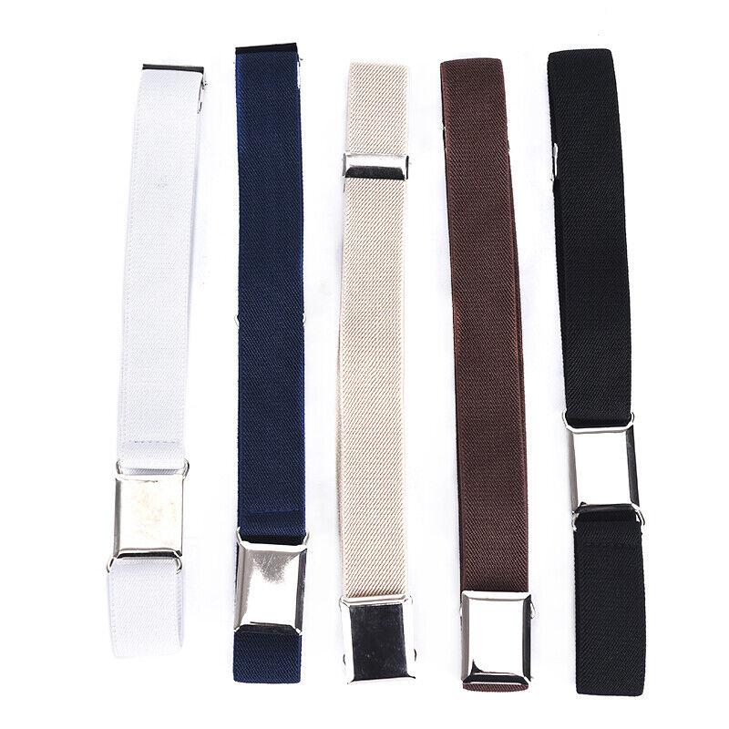 Children Solid Color Unisex Canvas Belts Boys Girls Elastic Belt Adjustable MC 6