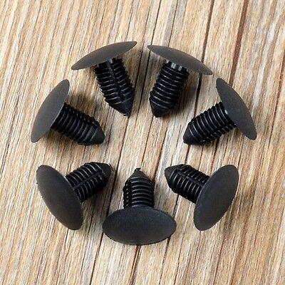 10Pcs Auto Car Door Fender Bumper 10mm Hole Plastic Rivets Fastener Clips Black 4