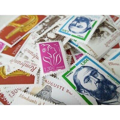 Lot FRANCE timbres neufs valeur FACIALE 160 € ! pour affranchissement permanent 3