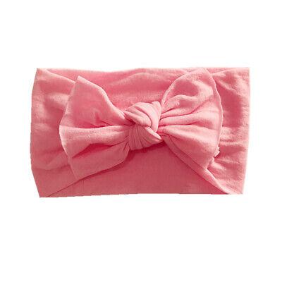 Newborn Baby Rabbit Headband Cotton Elastic Bowknot Hairband Girls Headwrap Band 10