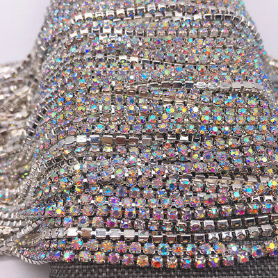 Wholesale 1-Row SS8 Cystal Rhinestone Trim Close Cup Chain Claw Jewelry Crafts 2