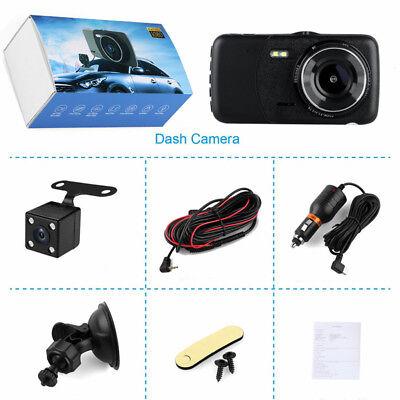 "4""1080P Dual Lens Car Dash Cam Front and Rear Camera DVR Recorder Video 170° 11"