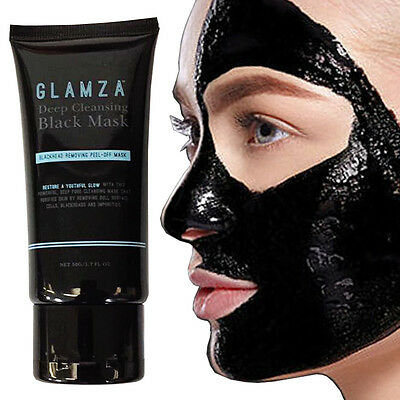 Glamza Charcoal Blackhead Remover Peel Off Facial Cleaning Black Face Mask 50g 7