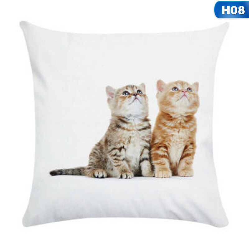 1X Animal Cute Cat Pillow Case Pet Cushion Cover For Home Pillowcase Decorations 9