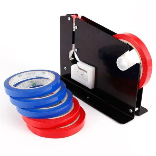 2XTrimming Blade Plastic Bag Neck Sealer Sealing Tape Dispenser +12 Roll Tape