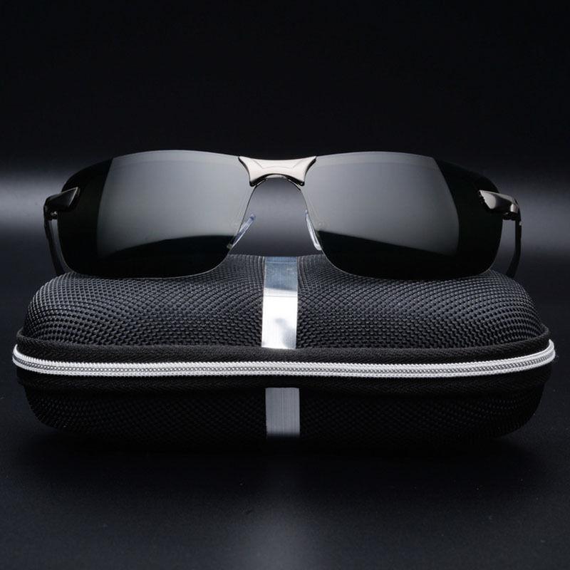 Mens Pro lunettes de soleil polarisées police métal demi cadre lunettes de solei 9