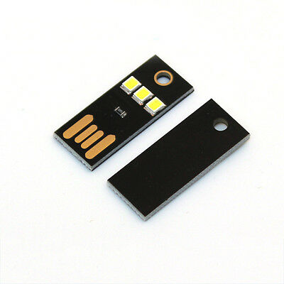 Bulb Card Lamp Keychain White Pocket Mini USB Touch switch 4LED Night Light