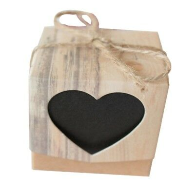 10~100pcs Kraft Paper Chocolate Candy Gift Boxes Wedding Party Baby Shower Favor 3
