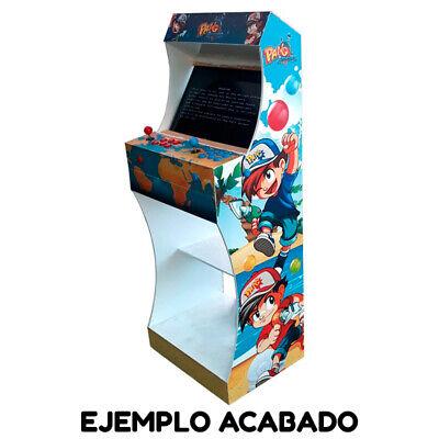 """Kit Mueble Bartop Light Arcade Recreativa Con Pedestal Max 25"""" De Pantalla 8"""