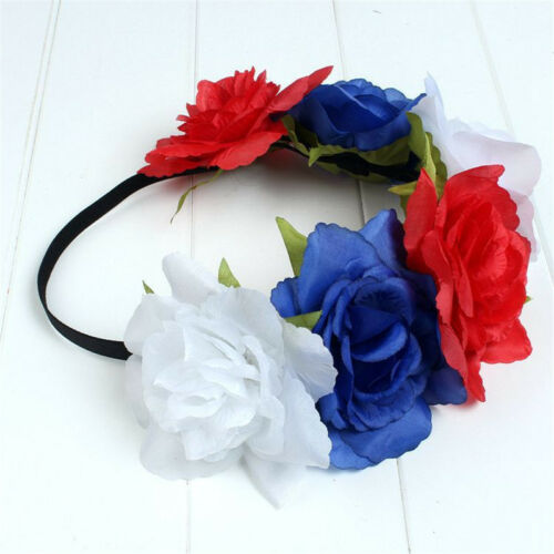 New Large Rose Flower Hair band Crown Festival Headband Garland Boho