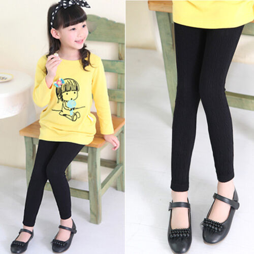 Kid Girl Winter Tight Legging Pants Toddler Stretch Thick Cotton Skinny Trousers 8