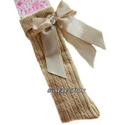 Girls & Toddler Bow Ribbon Socks 18 M'th-2/6 Years-White/Red/Navy/Beige/Pink-New 2
