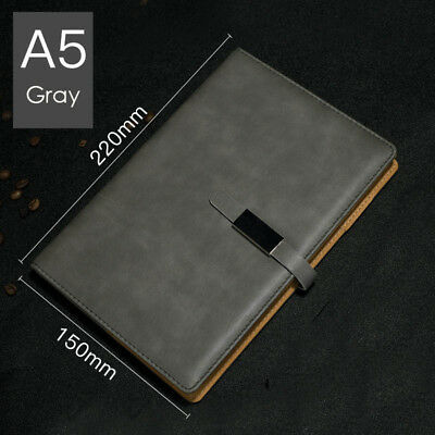 A5 PU Leather Vintage Journal Notebook Lined Paper Diary Planner with Buckle 8