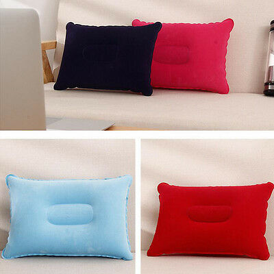 1*Outdoor Travel Folding Air Inflatable Pillow Flocking Cushion for Office Plane 3