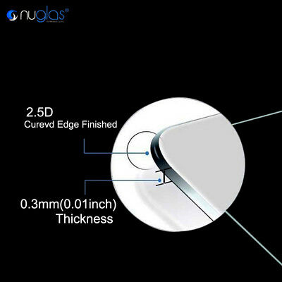 2x Apple iPhone 7 / 7 Plus GENUINE NUGLAS 9H Tempered Glass Screen Protector 6